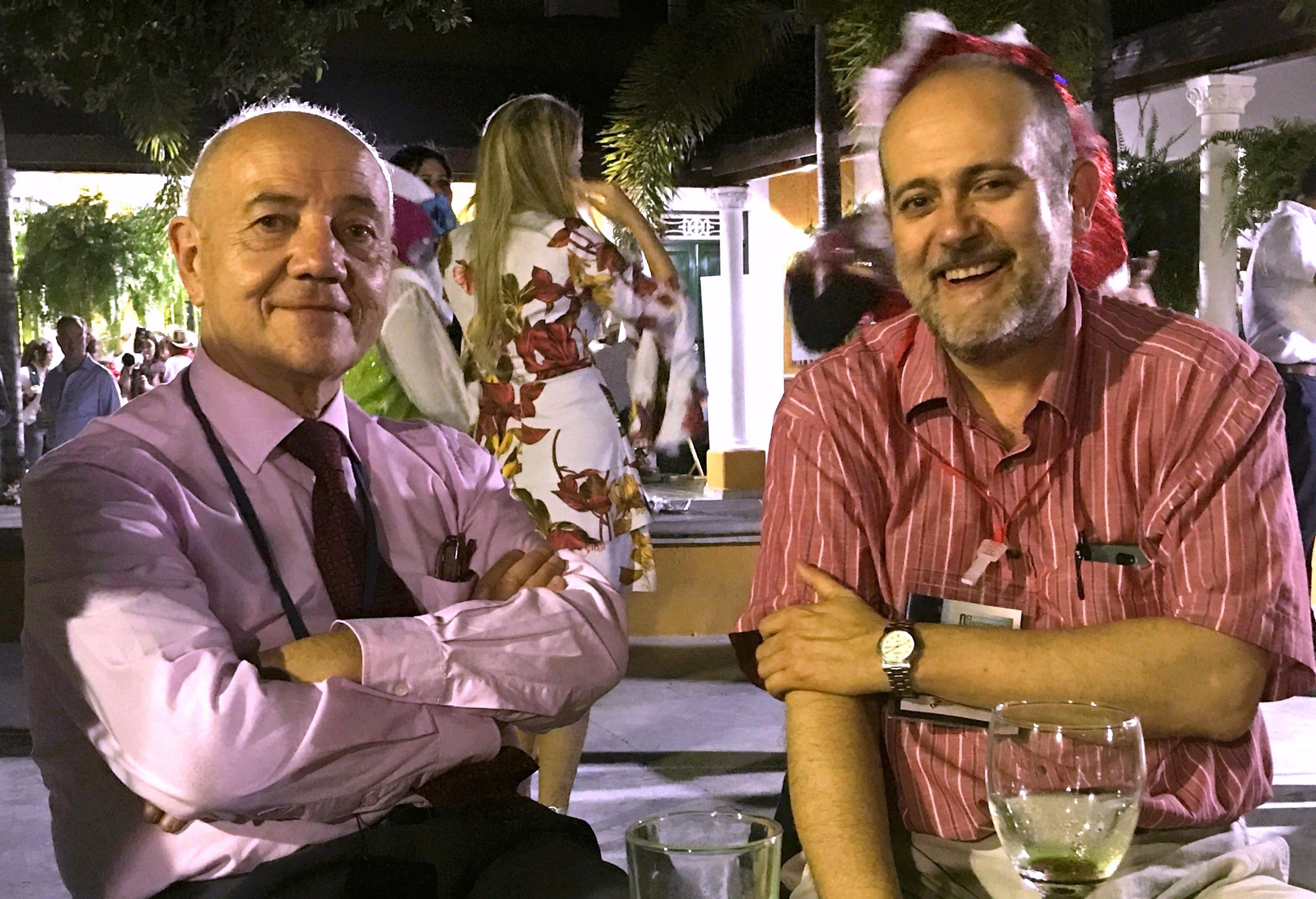 Tomàs Baiget con Luis Rodríguez Yunta, autor de la entrevista